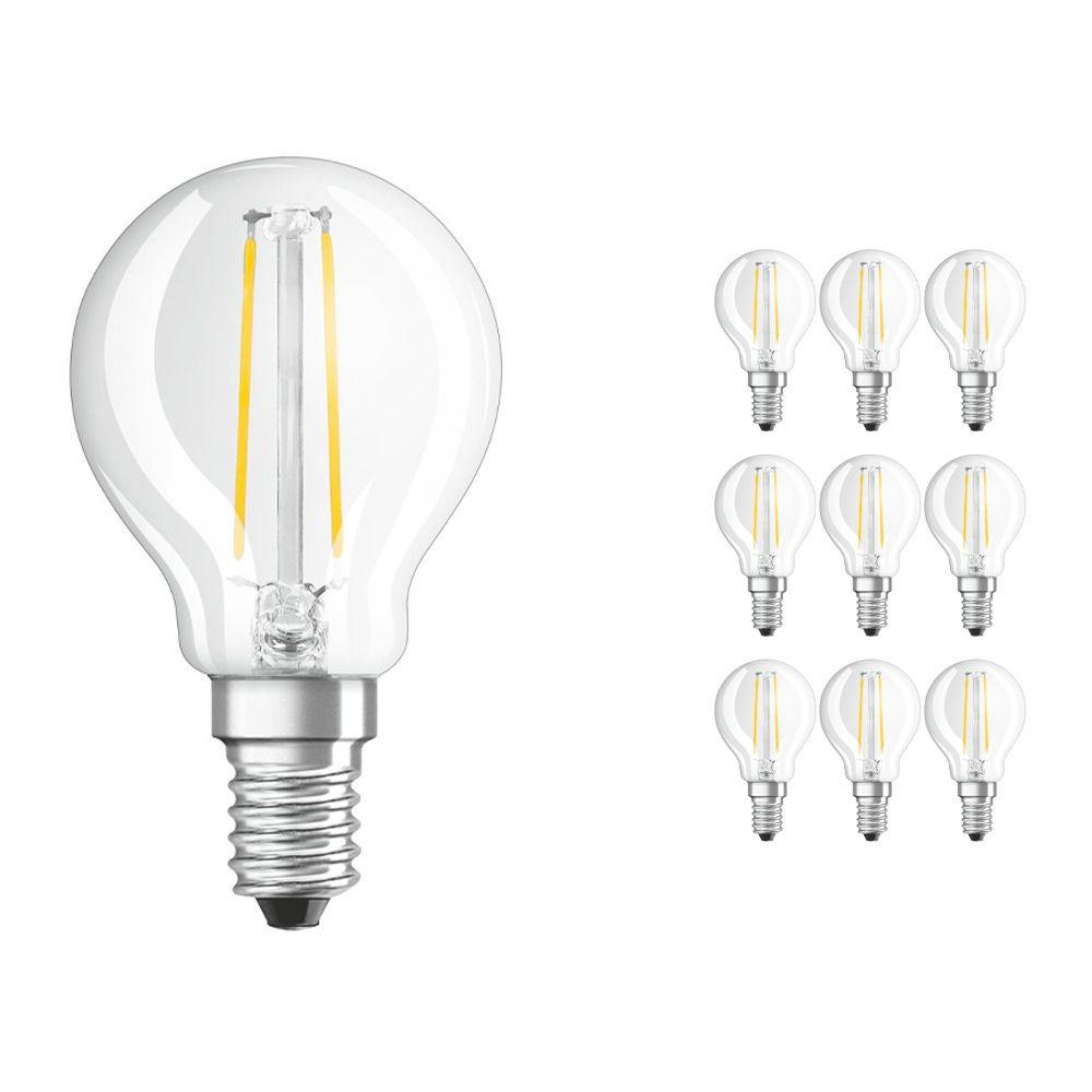 Lot 10x Osram Parathom Retrofit classique E14 P 2.5W 827 Filament | Remplacement 25W