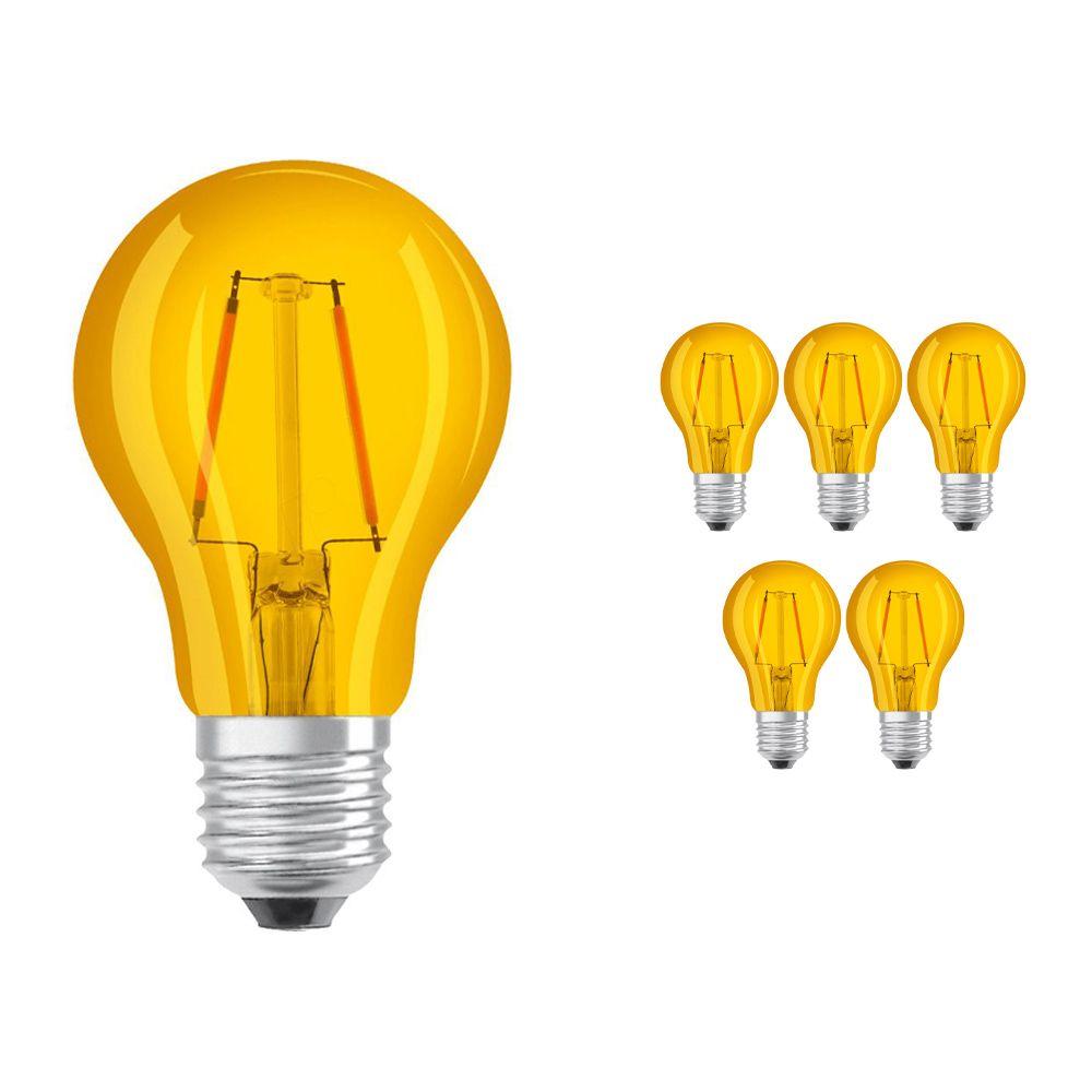 Voordeelpak 6x Osram Parathom Klassiek Color E27 2W | Geel - Vervanger voor 15W