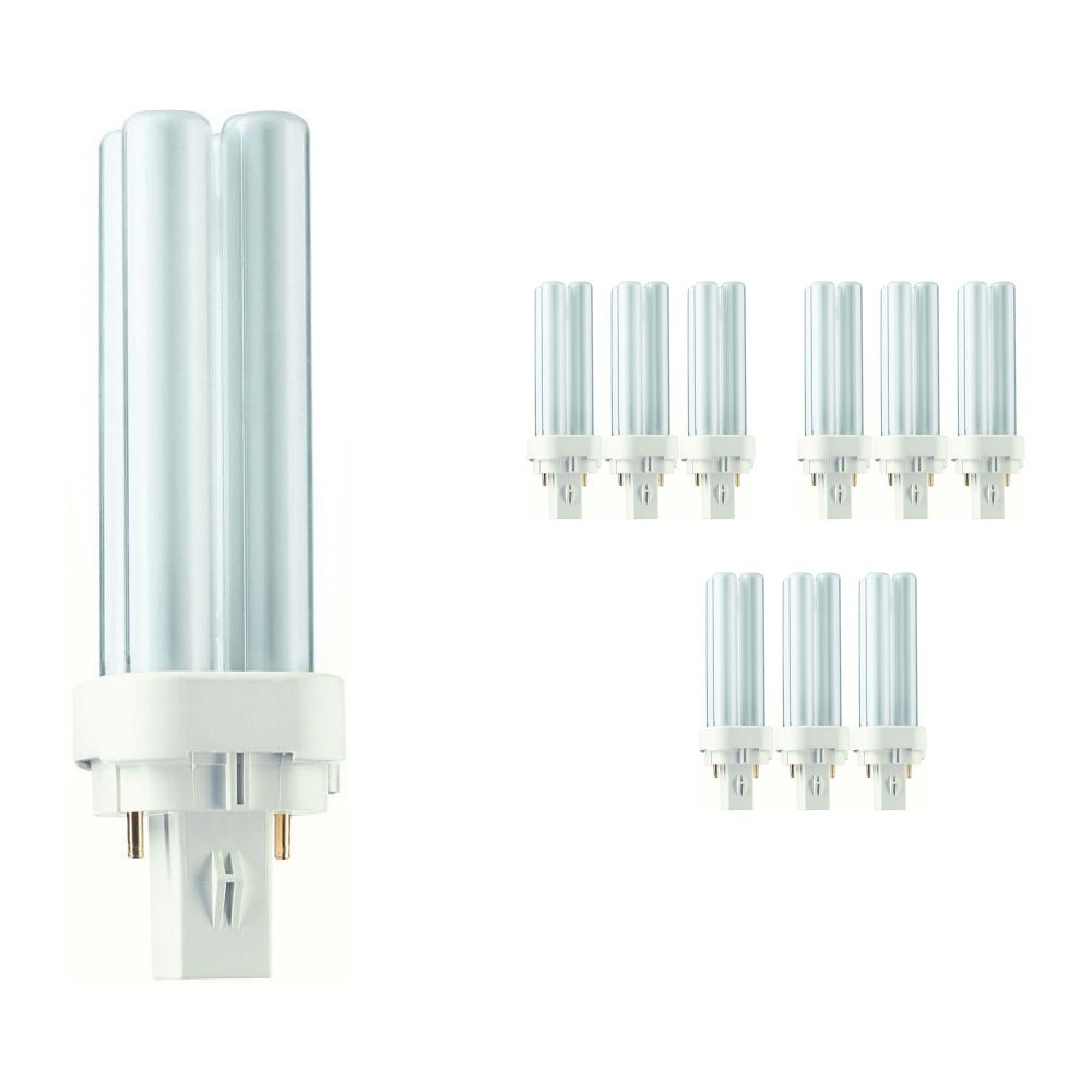 Mehrfachpackung 10x Philips PL-C 10W 827 2P (MASTER) | 2-Pins