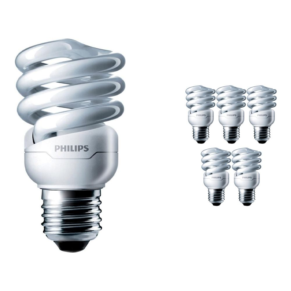 Mehrfachpackung 6x Philips Tornado T2 Spiral 12W 827 E27