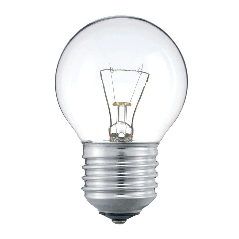 Standard Incandescent Bulb Round Clear P45 E27 25W 230V