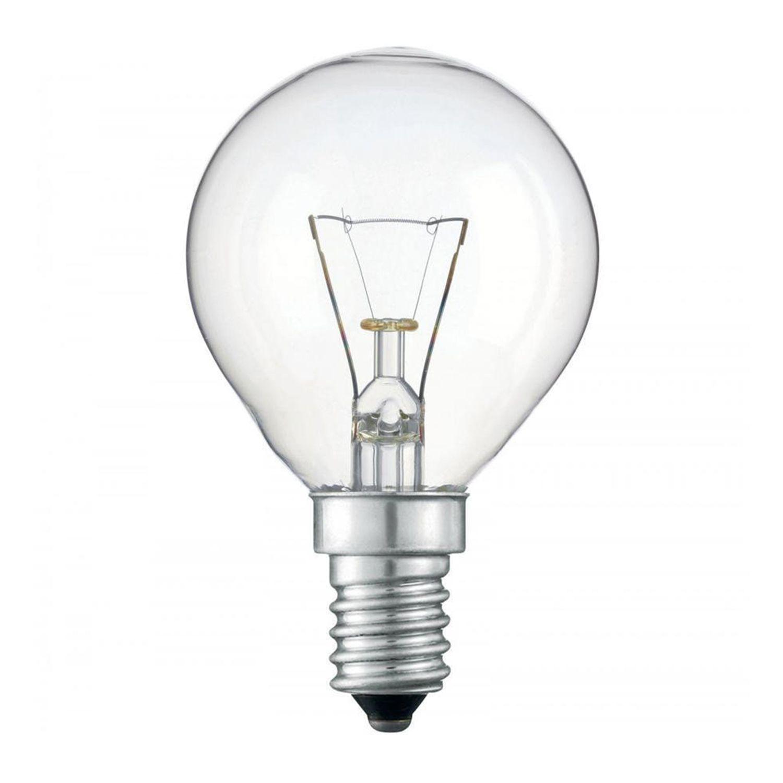 Standard Incandescent Bulb Round Clear P45 E14 25W 230V