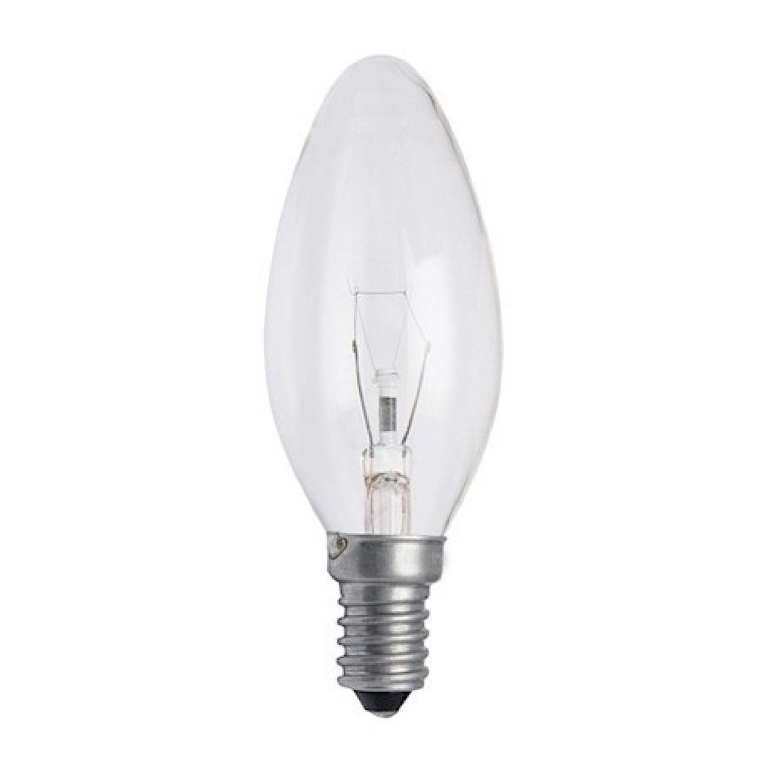 Standard Incandescent Candle Clear B35 E14 25W 230V