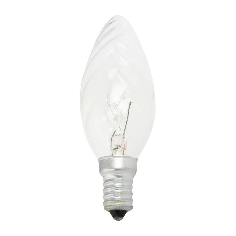 Standard Glühlampe Kerze verdreht Klar BF35 E14 40W 230V