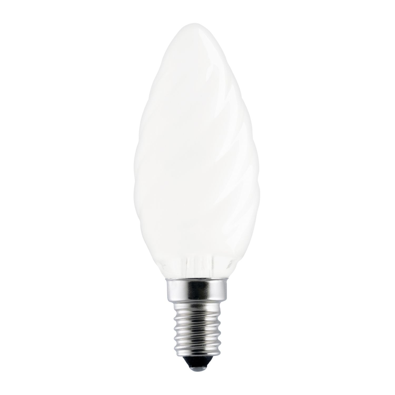 Standard Incandescent Twisted Candle Frosted BF35 E14 25W 230V