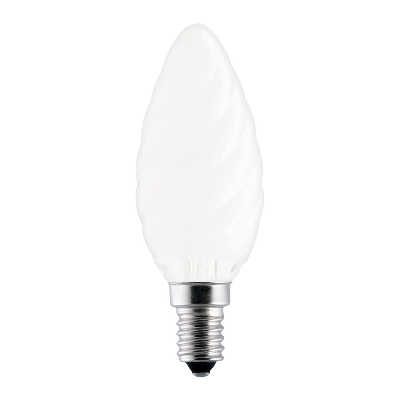 Standard Glühlampe Kerze verdreht Matt BF35 E14 60W 230V