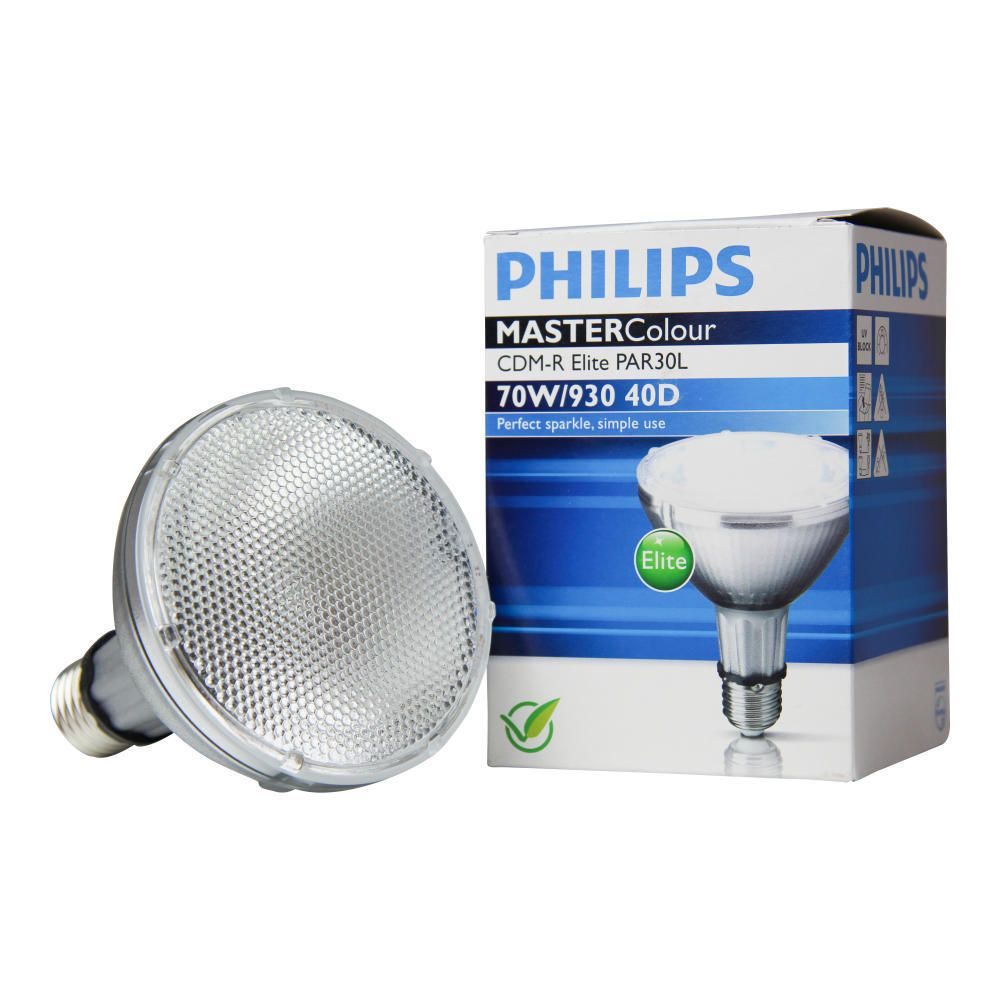Philips MASTERColour CDM-R Elite 70W 930 E27 PAR30L 40D | Warm White - Best Colour Rendering