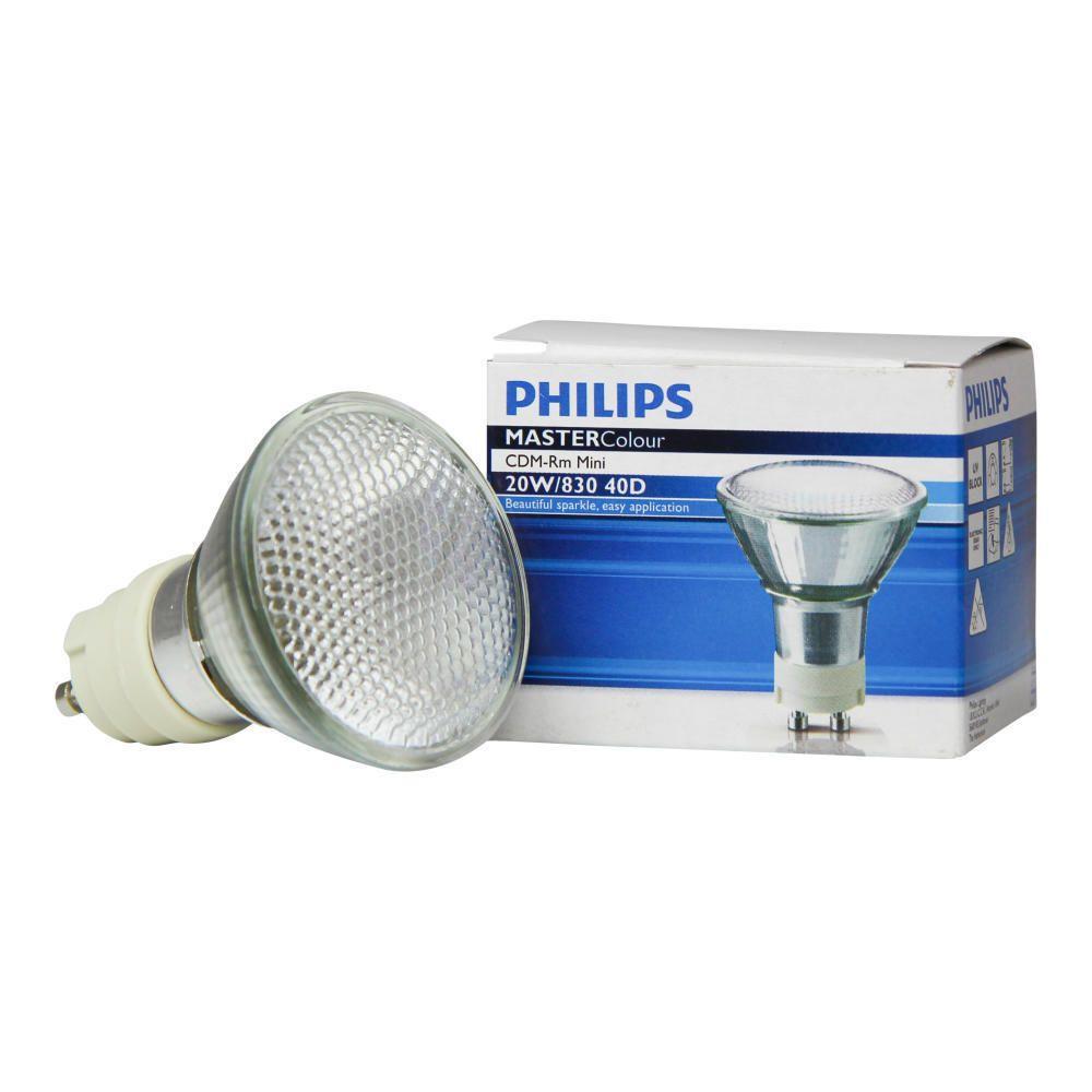 Philips MASTERColour CDM-RM Mini 20W 830 GX10 MR16 40D | varm hvid
