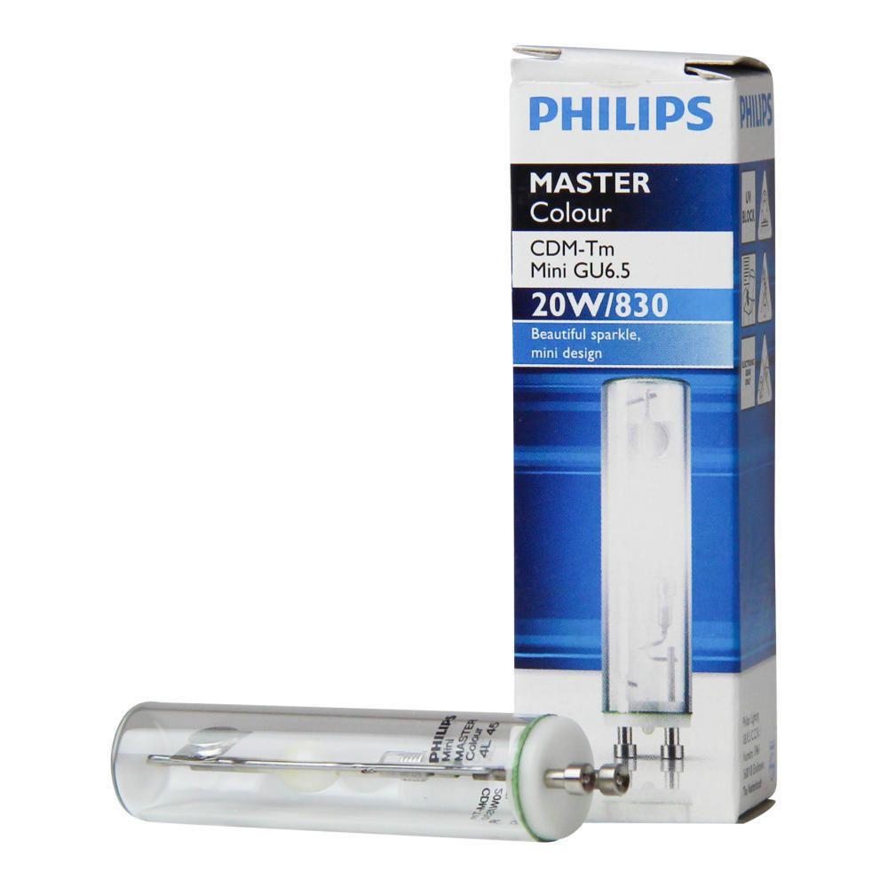Philips MASTERColour CDM-Tm Mini 20W 830 GU6.5 | Warm Wit
