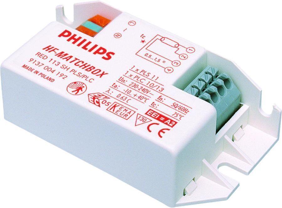 Philips HF-Matchbox Red 124 SH TL/TL5/PL-L for 1x24W