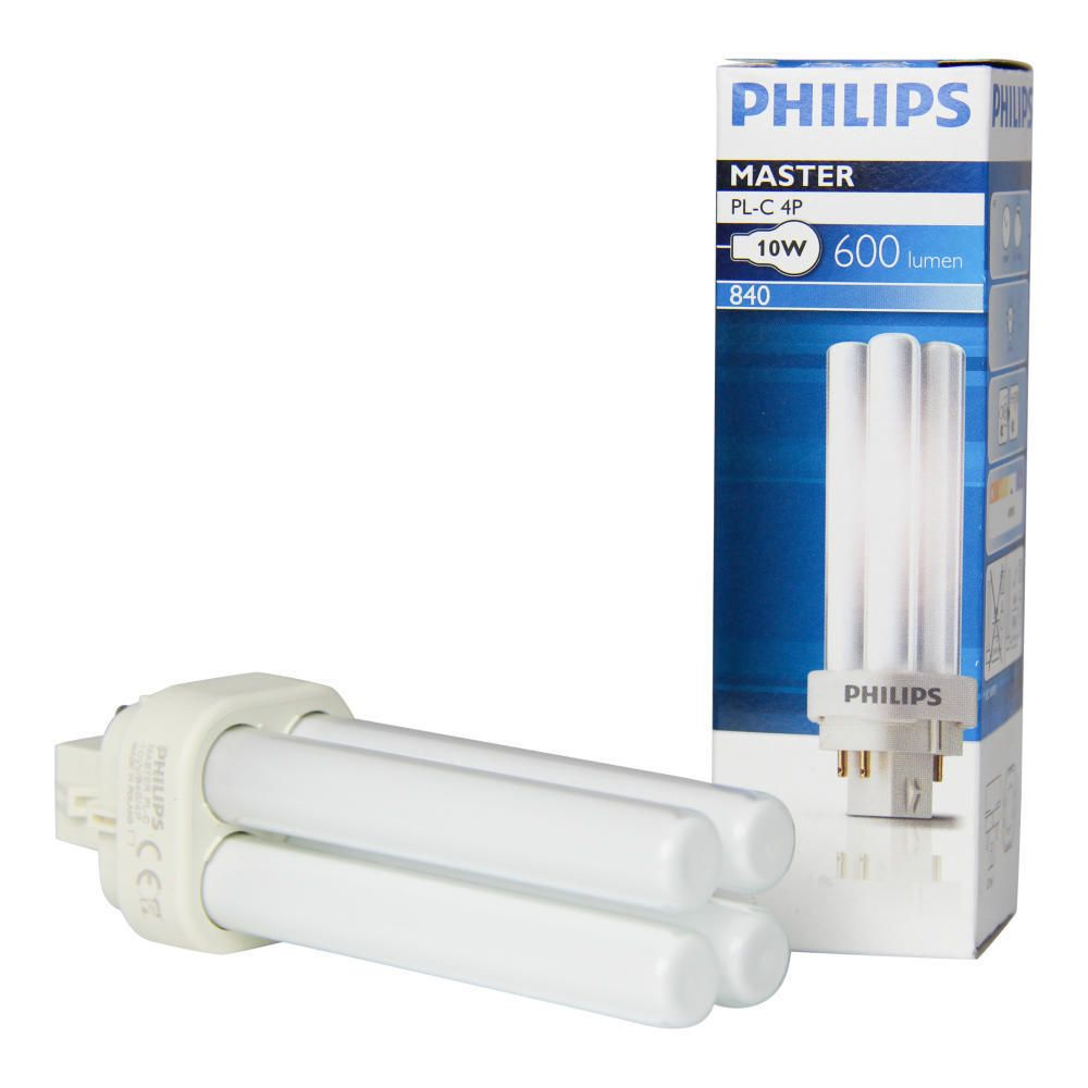 Philips PL-C 10W 840 4P (MASTER) | Koel Wit - 4-Pin