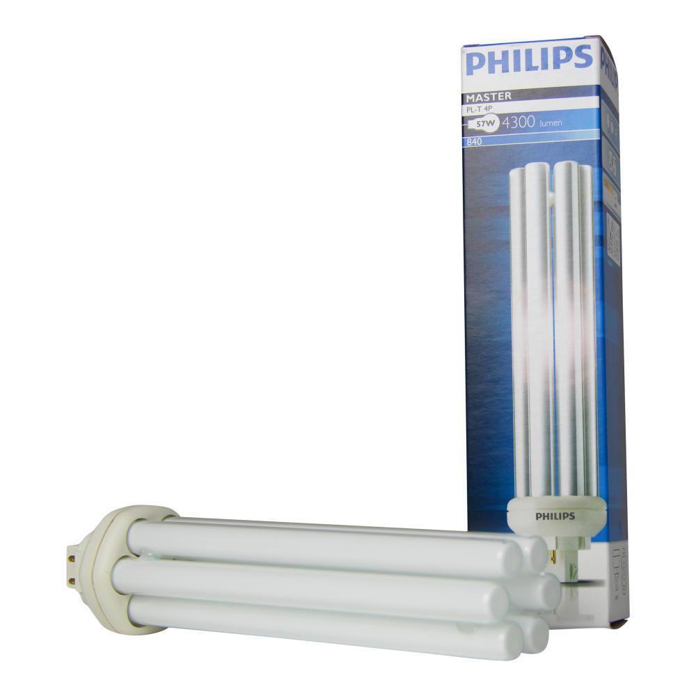 Philips PL-T 57W 840 4P (MASTER) | kold hvid - 4-pinde