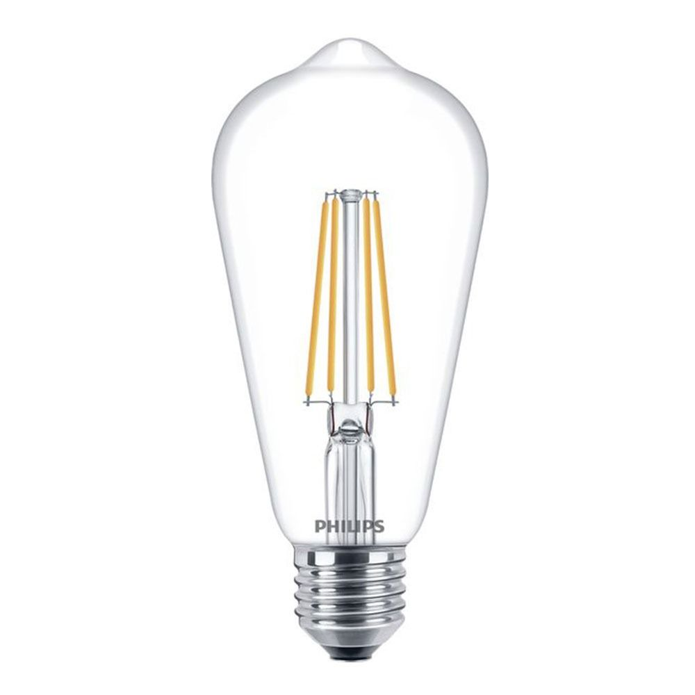 Philips Classic LEDbulb E27 Edison 7W 827 Clear | Replaces 60W