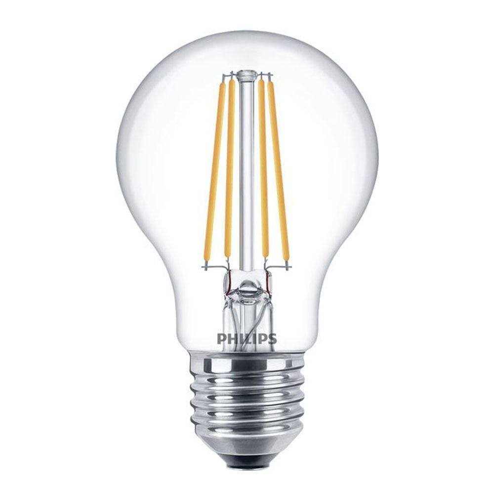 Philips Classic LEDbulb E27 A60 7W 827 Klar | Ersetzt 60W