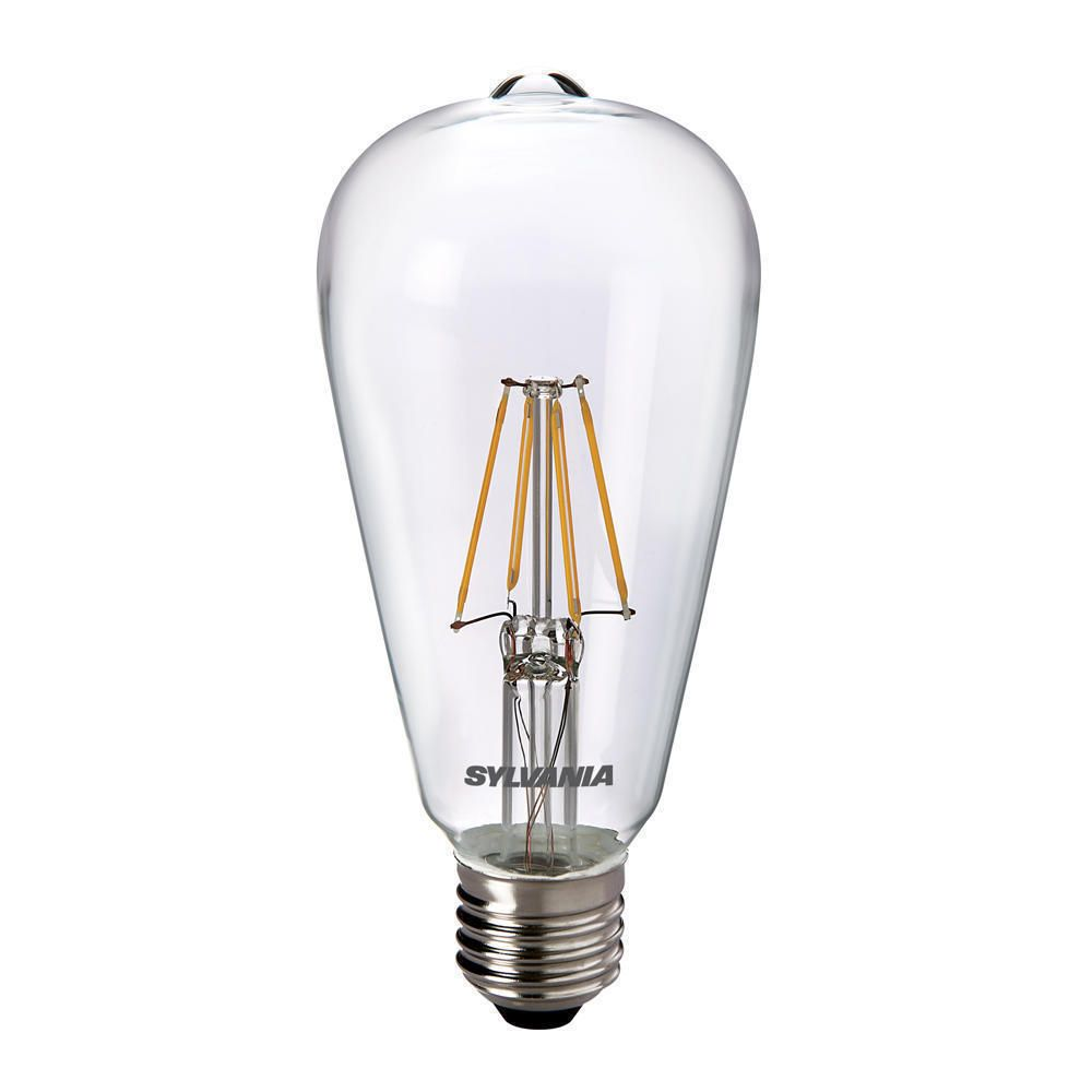 Sylvania ToLEDo Retro Edison E27 ST64 4W Clear | Replaces 40W