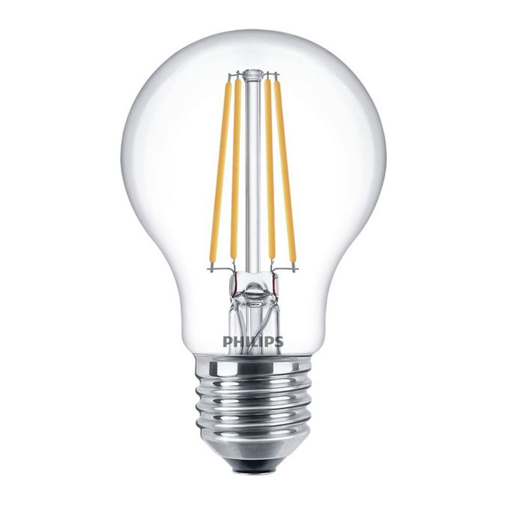 Philips Classic LEDbulb E27 A60 8W 827 Clear | Dimmable - Replaces 60W