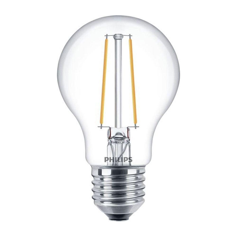 Philips Classic LEDbulb E27 A60 5.5W 827 Przezroczysty | Regulacja Światła - Zamienne 40W
