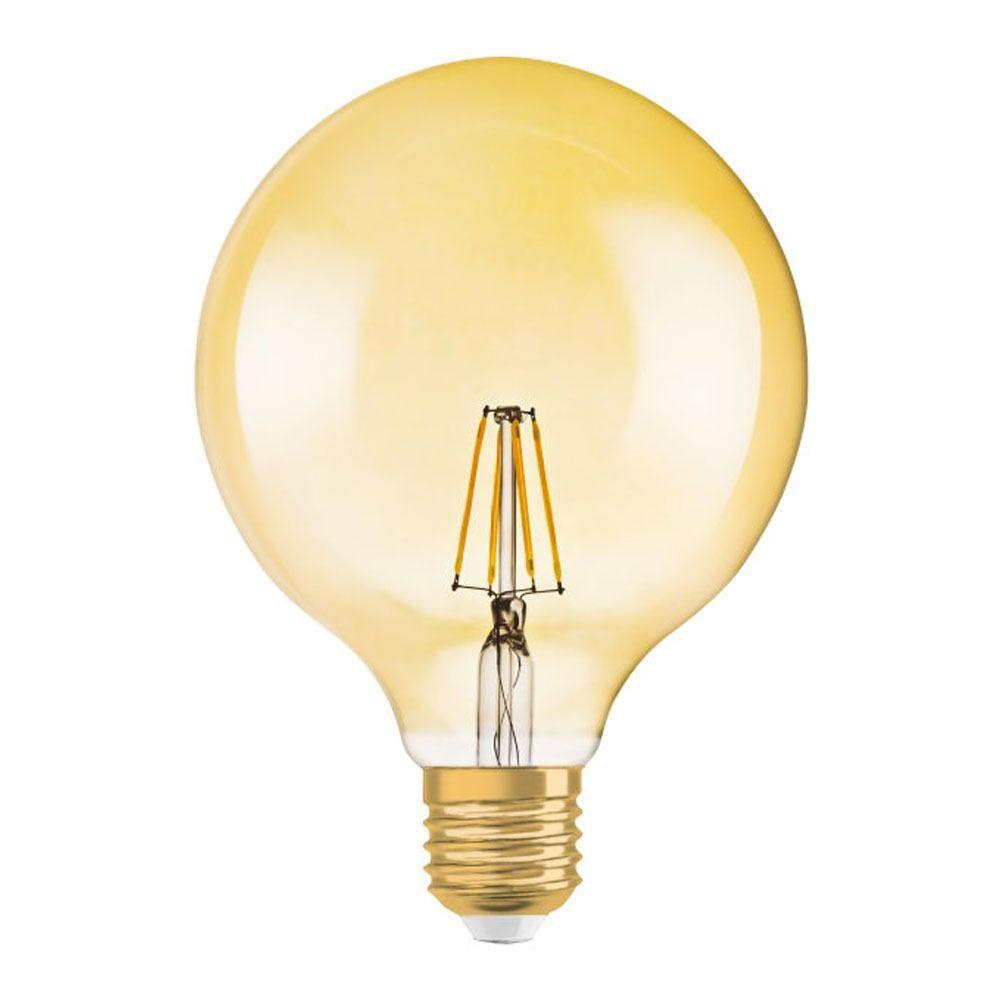 Osram Vintage 1906 LED E27 Globe 7.5W 824 Goud | Dimbaar - Vervangt 50W