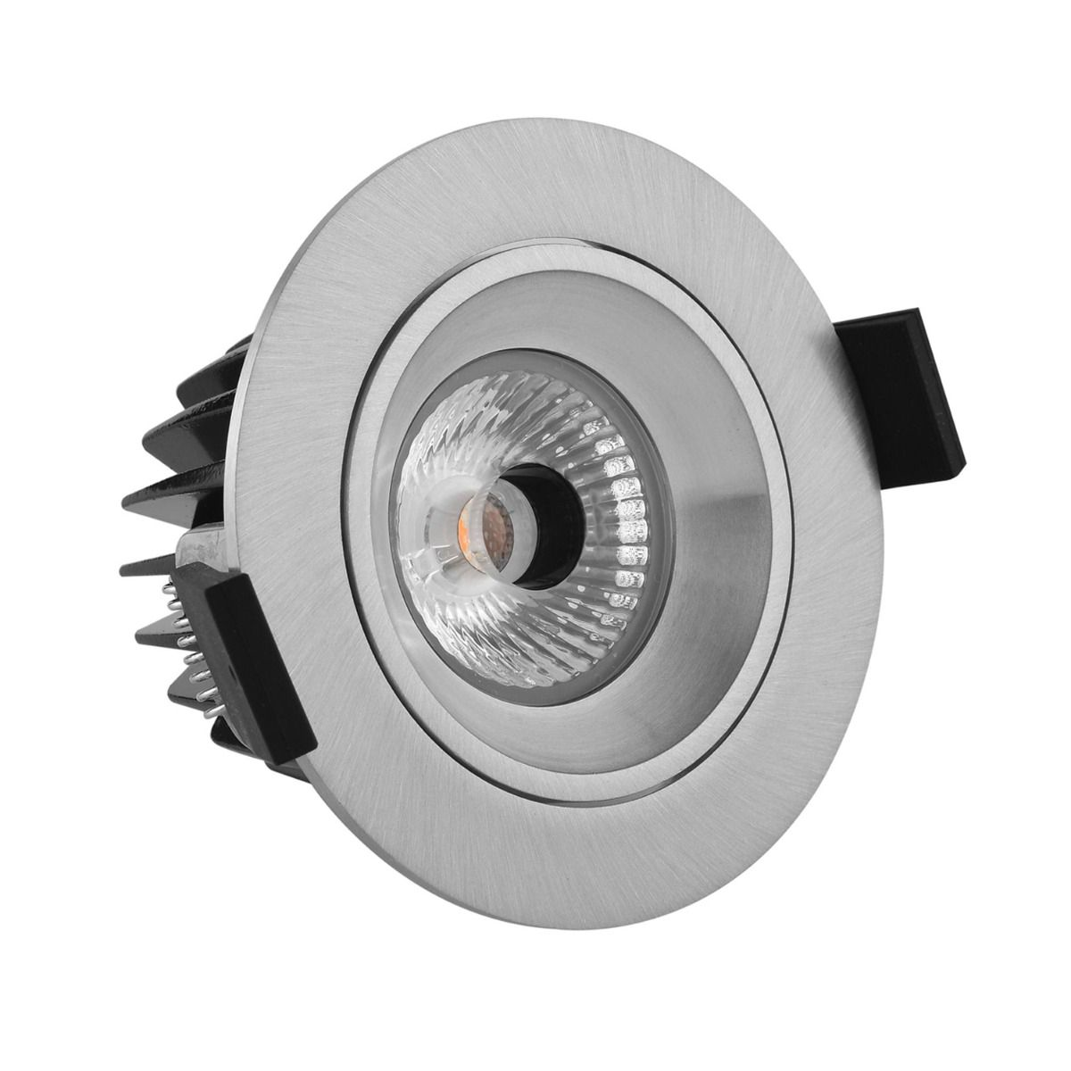 Noxion LED Spot Diamond IP44 2700K Aluminium | Dimbaar