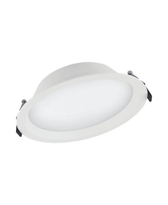Ledvance LED Downlight Aluminum DN200 25W 830 IP44 | Warm Wit - Vervangt 2x26W