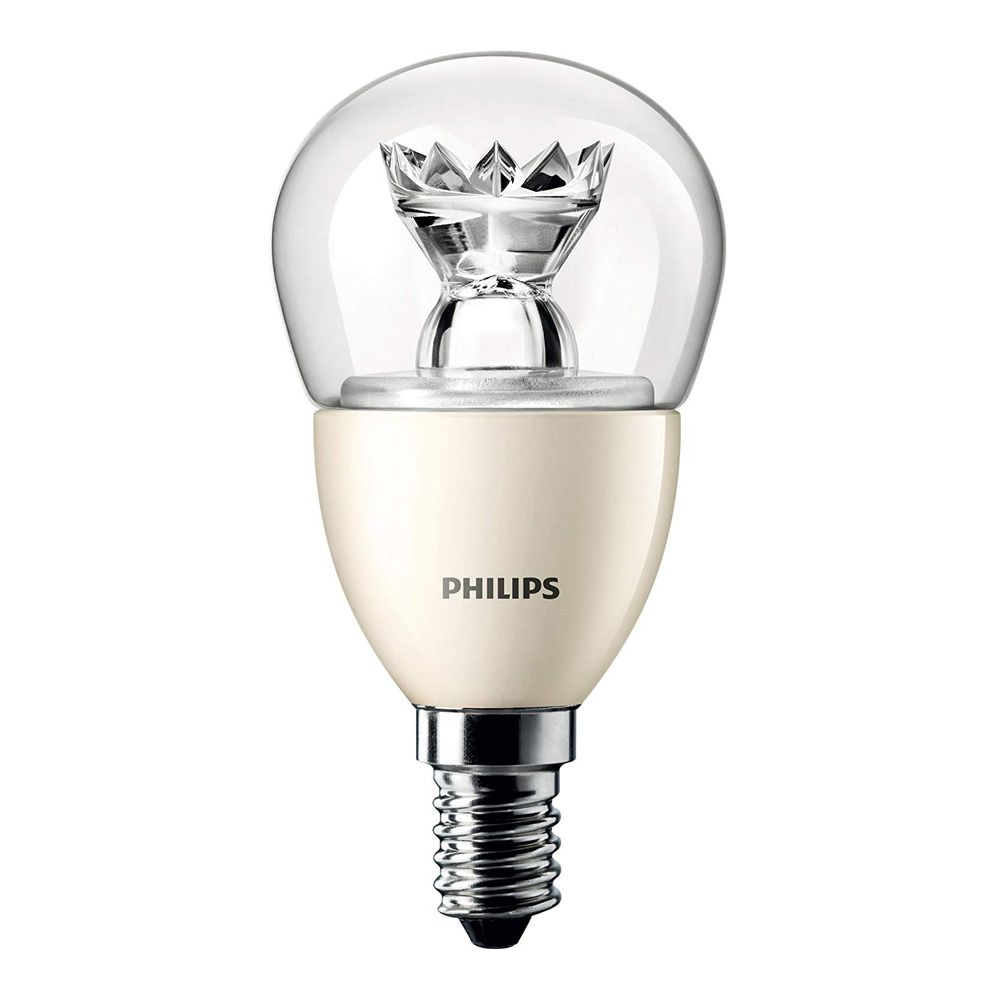 Philips LEDluster E14 P48 6W 827 Clear (MASTER) | DimTone Dimmable - Replaces 40W