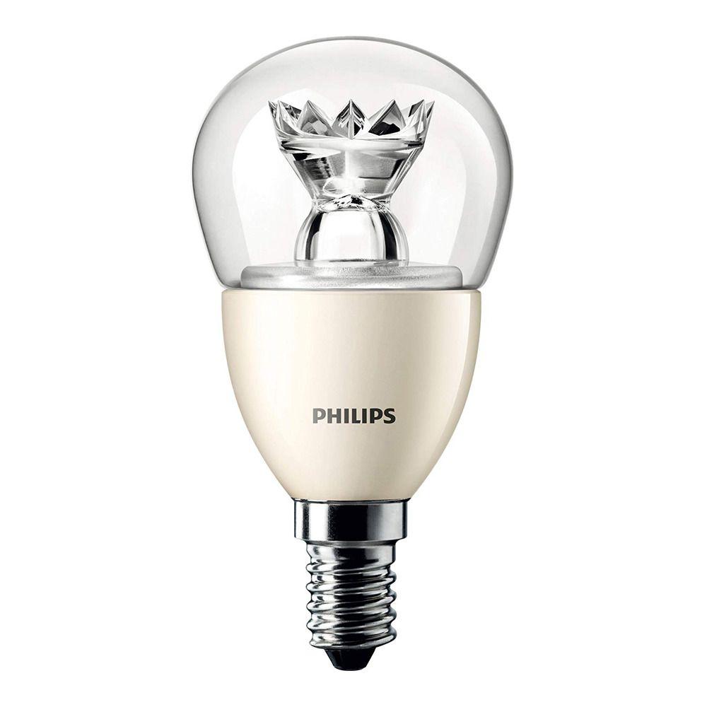 Philips LEDluster E14 P48 6W 827 Klar (MASTER) | DimTone Dimbar - Ersättare 40W