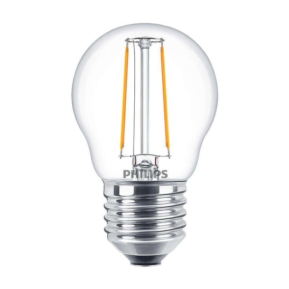 Philips Classic LEDluster E27 P45 2W 827 Clear | Replaces 25W