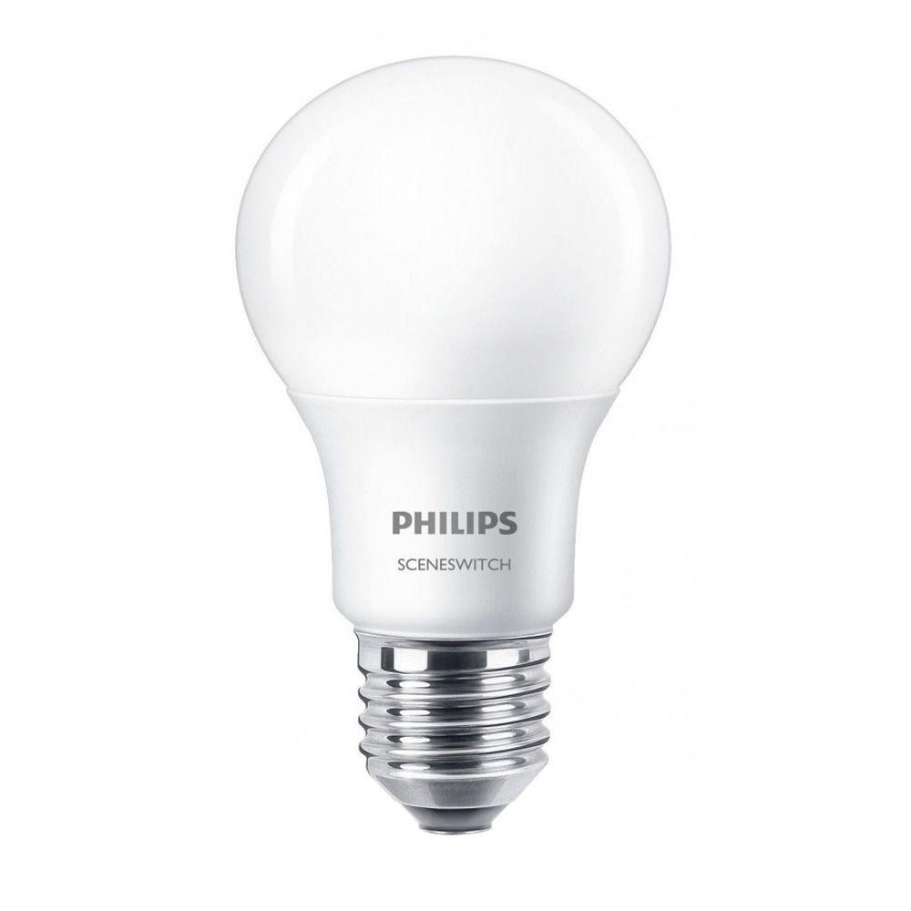 Philips SceneSwitch LEDbulb E27 A60 8W 827 Matt | SceneSwitch Dimbar - Ersättare 60W
