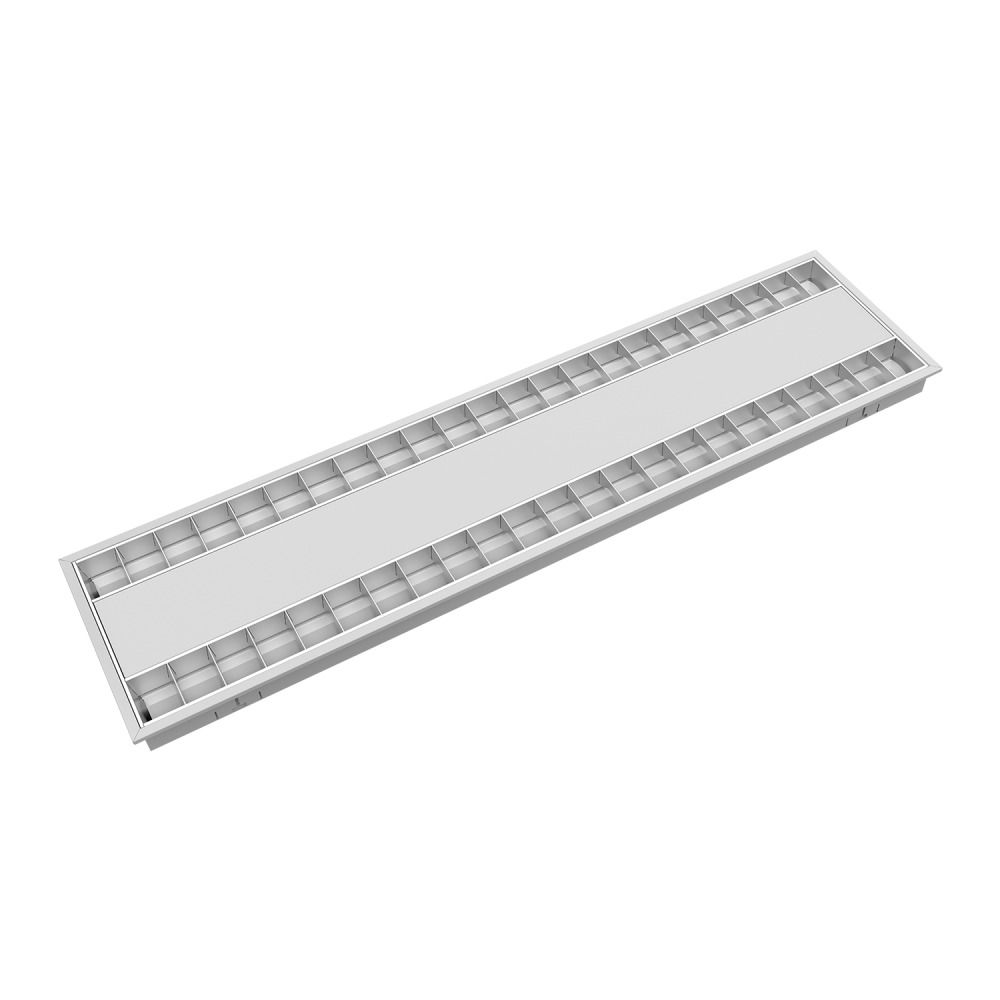 Noxion LED Panel Louvre Excell G2 30x120cm 3000K 34W UGR<15 Frosted Reflector | Warm White - Dali Dimmable - Replaces 2x28W