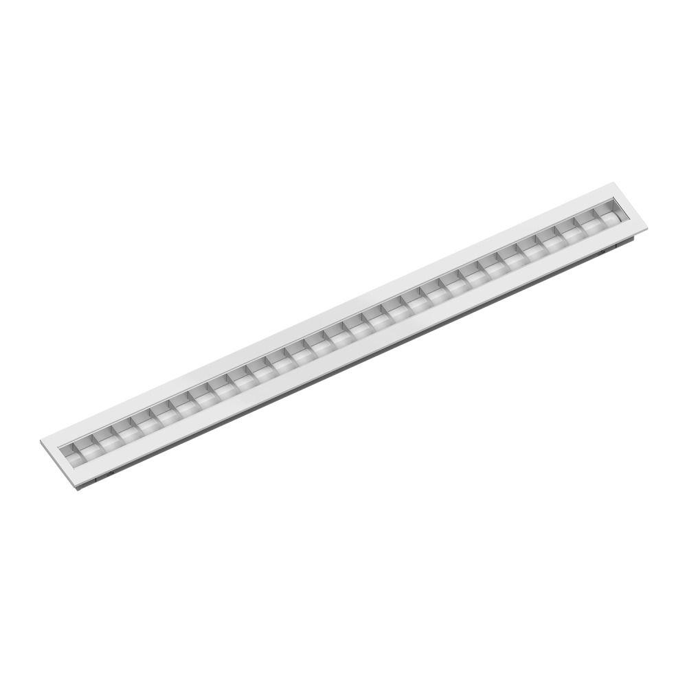 Noxion LED Panel Louvre Excell G2 15x150cm 3000K 38W UGR<15 Matt Reflektor | Warmweiß - Dali Dimmbar - Ersatz für 1x49W