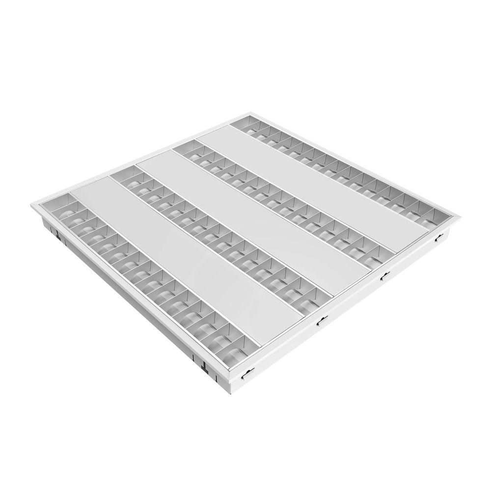 Noxion LED Panel Louvre Excell G2 60x60cm 3000K 34W UGR<15 Matt Reflektor | Varm Vit - Dali Dimbar - Ersättare 4x14W