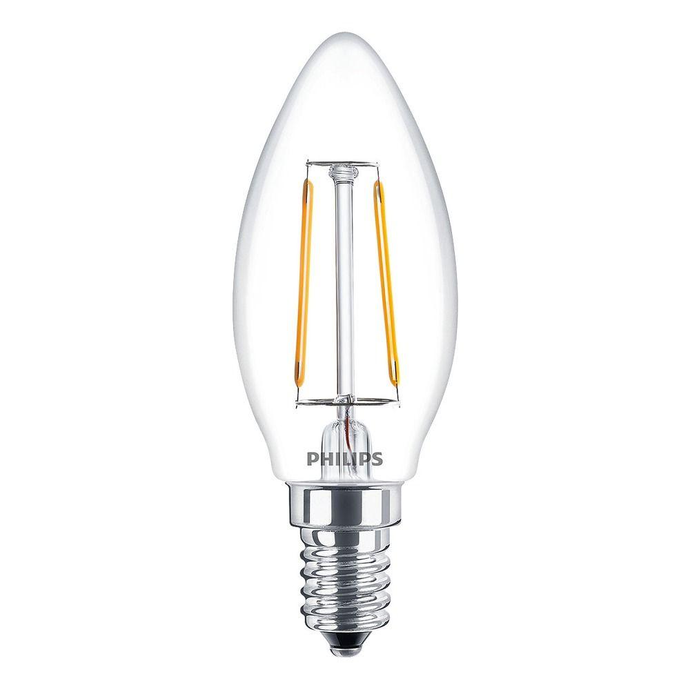 Philips Classic LEDcandle E14 B35 2.5W 827 Clear | Replaces 25W