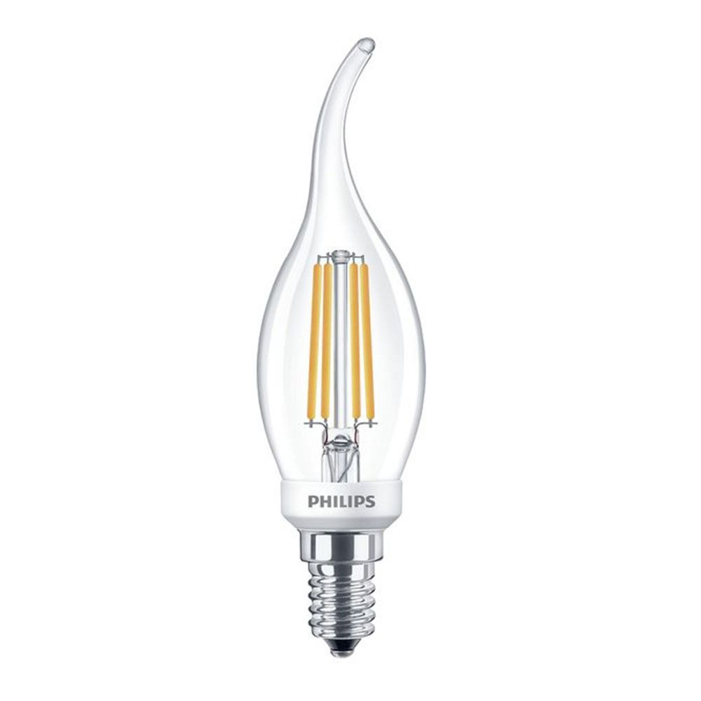 Philips Classic LEDcandle E14 BA35 5W 827 Clear | Dimmable - Replaces 40W