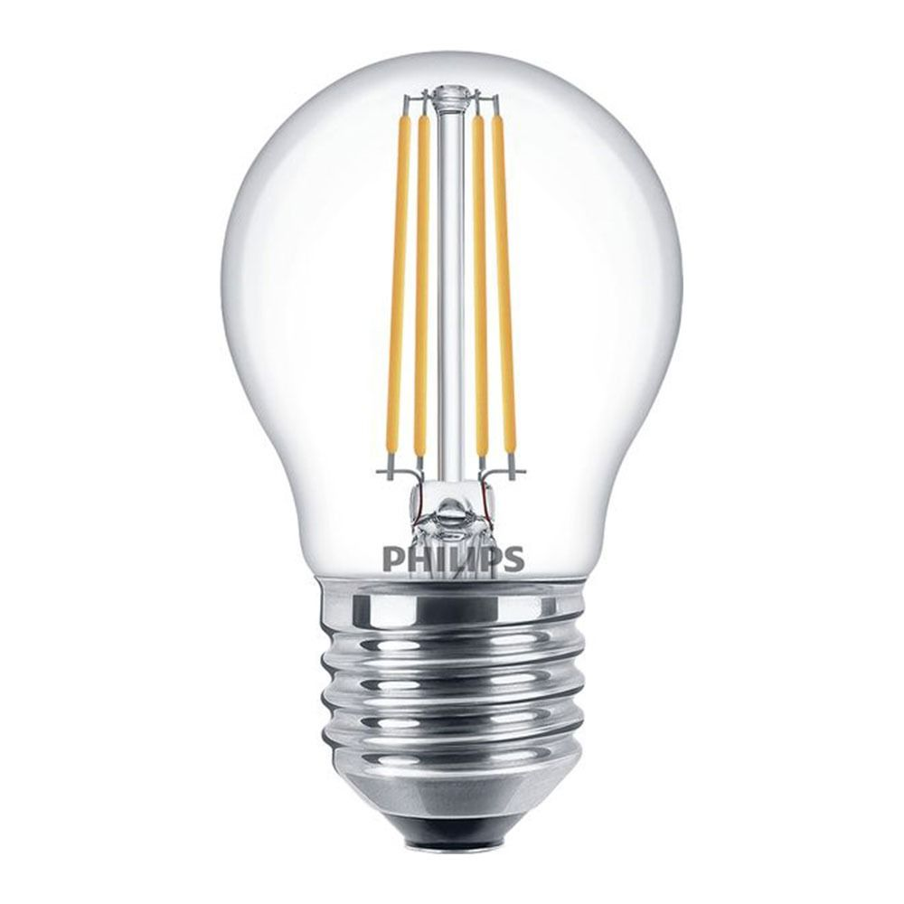 Philips Classic LEDlustre E27 P45 5W 827 Clear | Dimmable - Replaces 40W