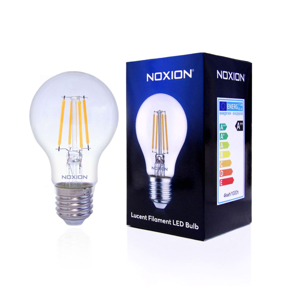Noxion Lucent Filament LED Bulb 7W 827 A60 E27 Clear | Dimmable - Extra Warm White - Replaces 60W
