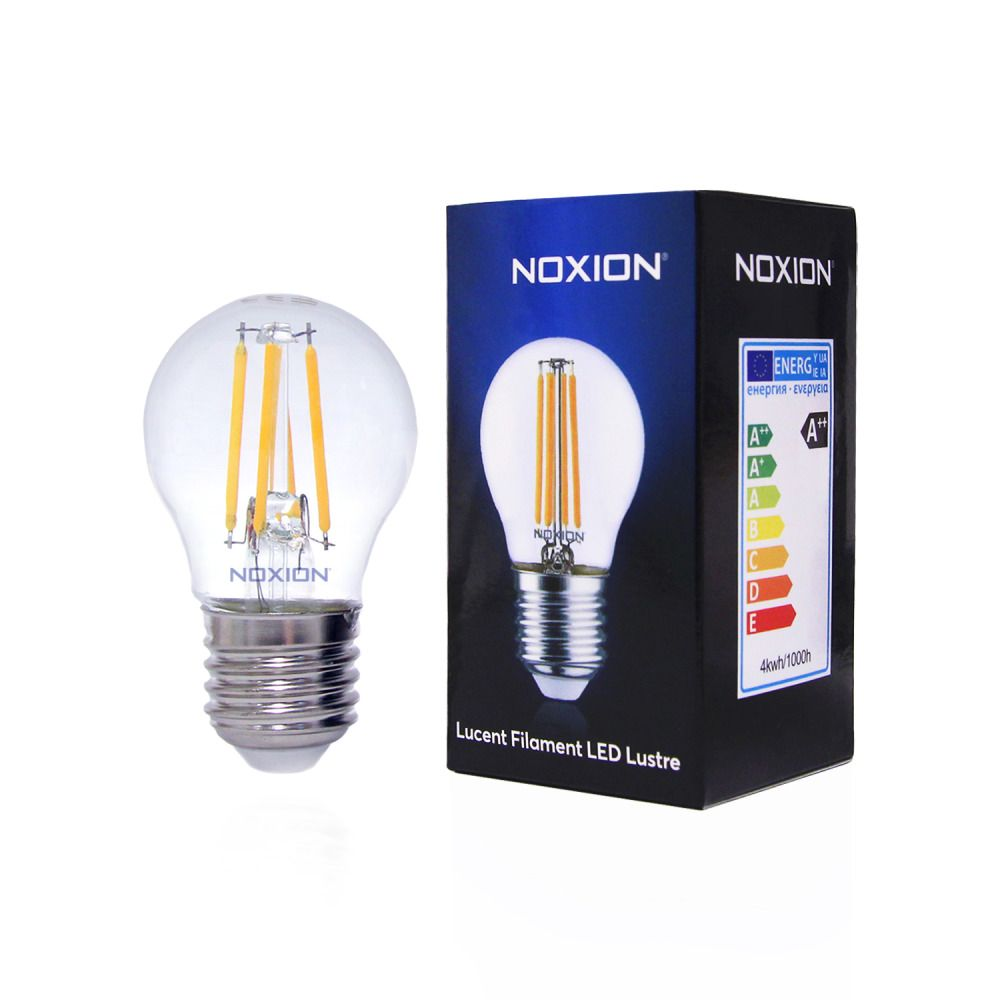 Noxion Lucent Filament LED Lustre 4.5W 827 P45 E27 Clear | Dimmable - Replacer for 40W