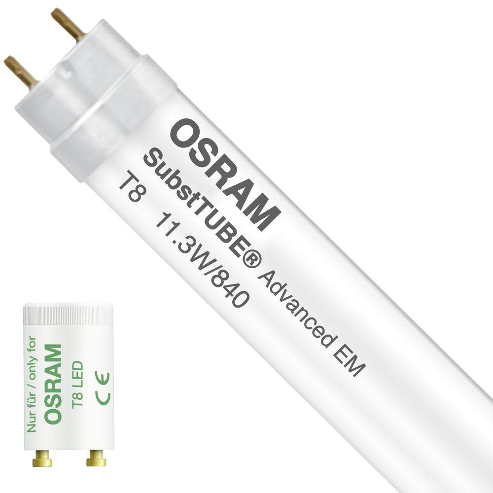 Osram SubstiTUBE Advanced EM 11.3W 840 90cm | Koel Wit - incl. LED Starter - Vervangt 30W