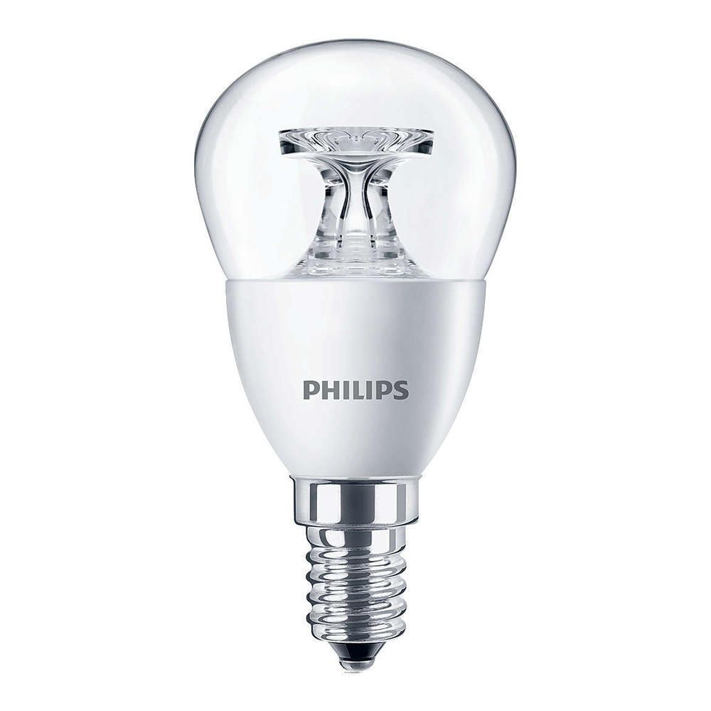 Philips CorePro LEDluster E14 P45 5.5W 827 Clear | Replaces 40W