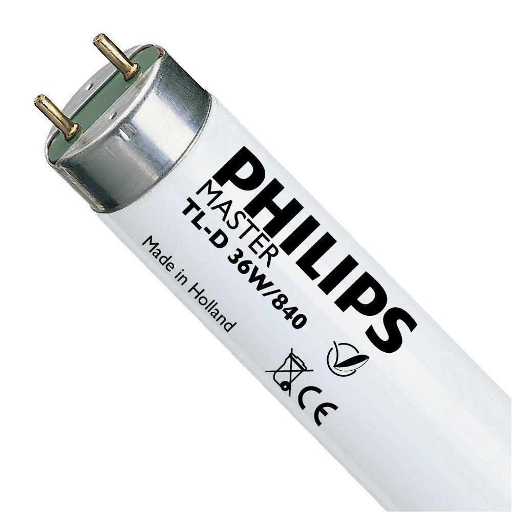 Philips TL-D 36W 840 Super 80 (MASTER) | 120cm - kold hvid