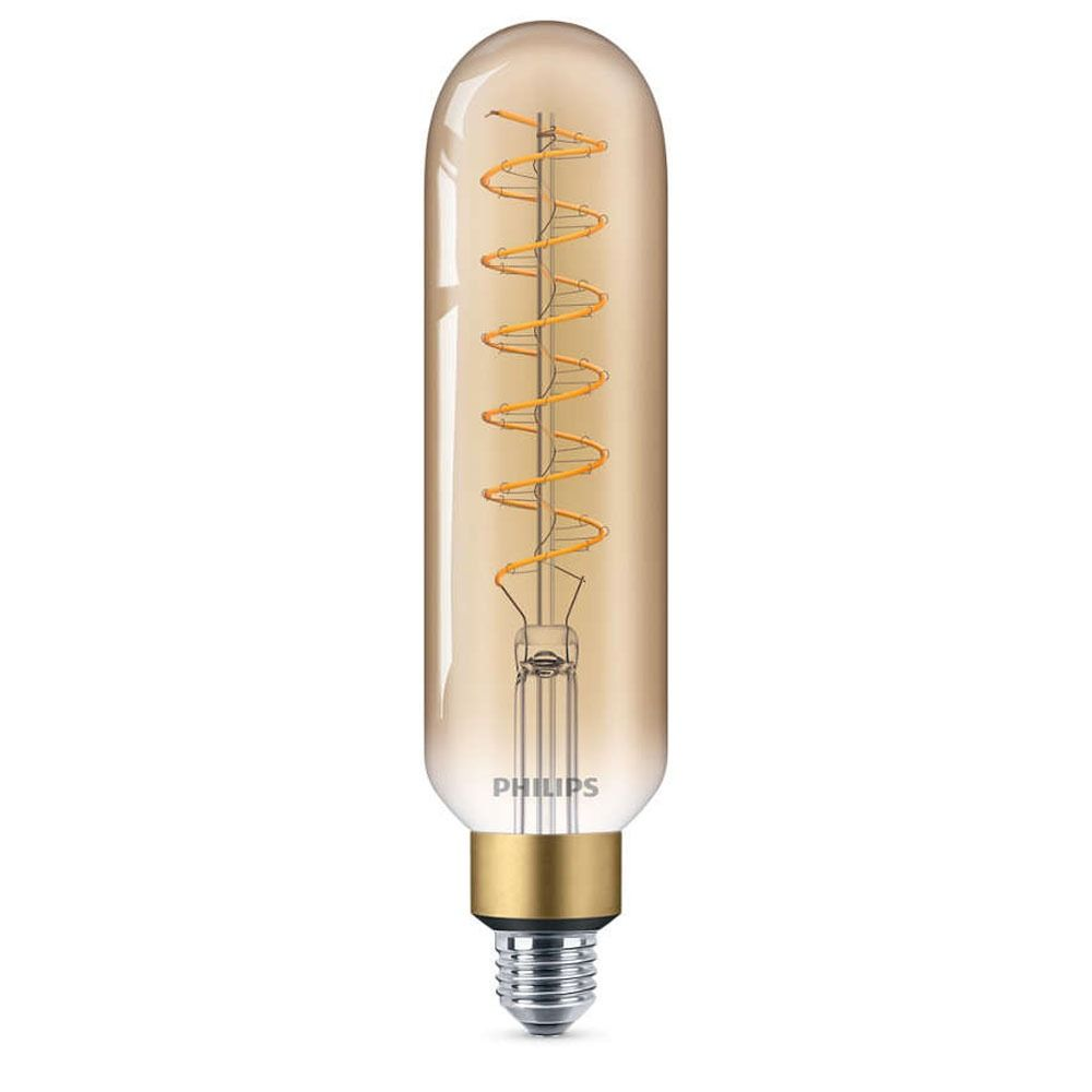 Philips Classic LED Giant Vintage Tubular E27 T65 6.5W 820 Gold | Extra Warm White - Dimmable - Replaces 40W