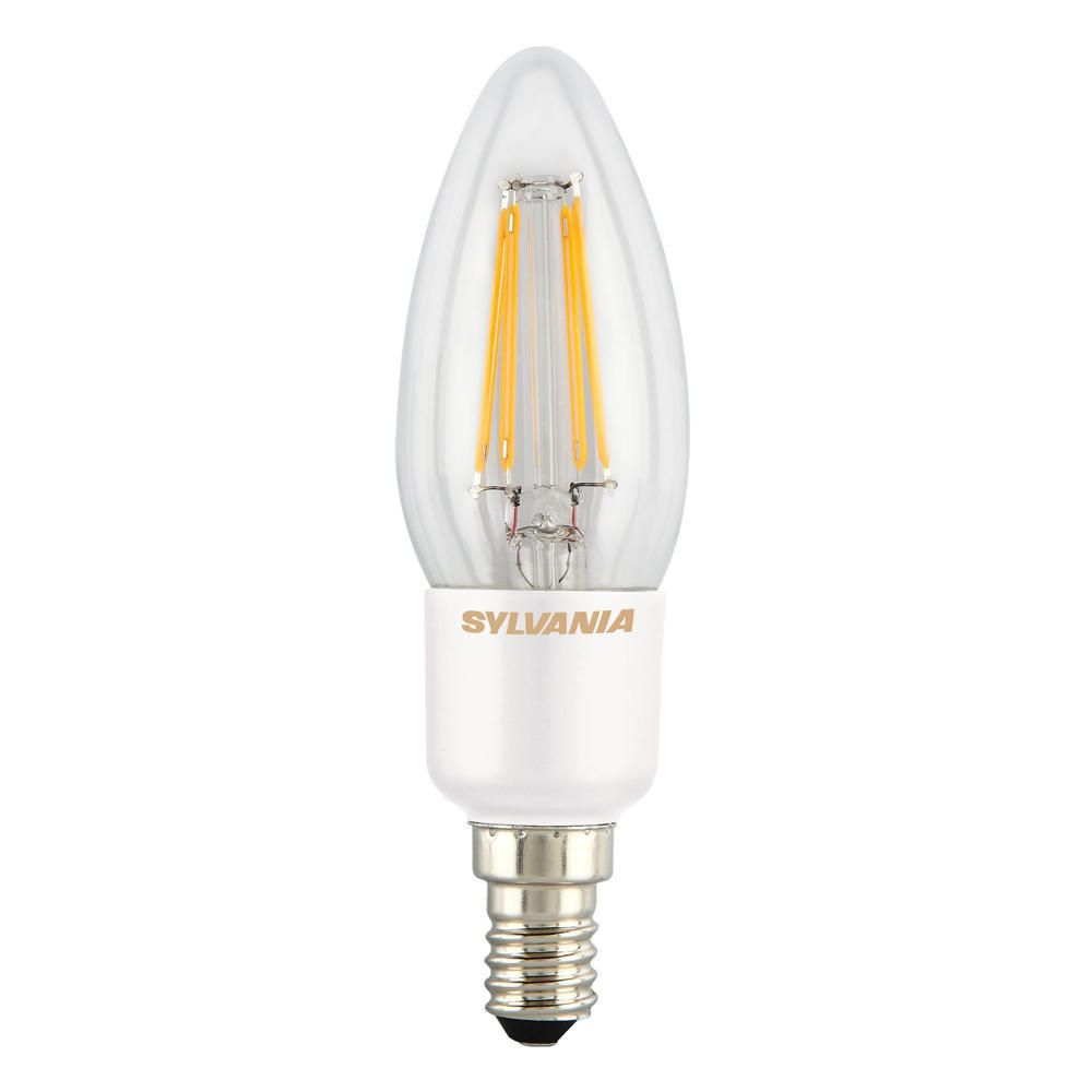 Sylvania ToLEDo Retro Candle E14 4.5W 2700K Clear SL | Dimmable - Replaces 40W