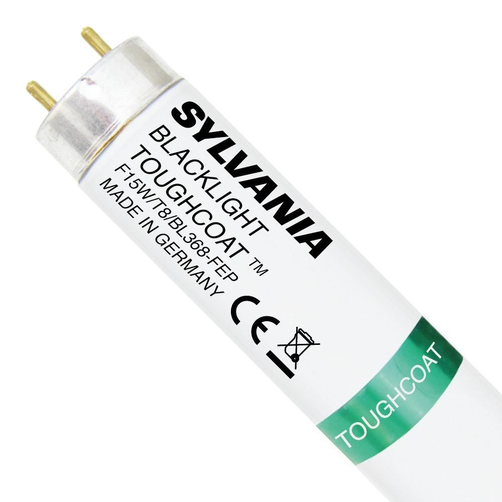 Sylvania Blacklight F15W T8 BL 368 Toughcoat