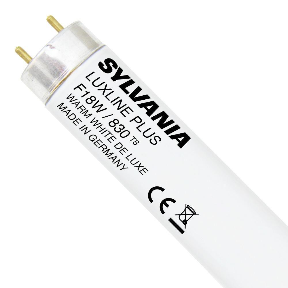 Sylvania T8 Luxline Plus F18W 830 | 60cm - Warmweiß