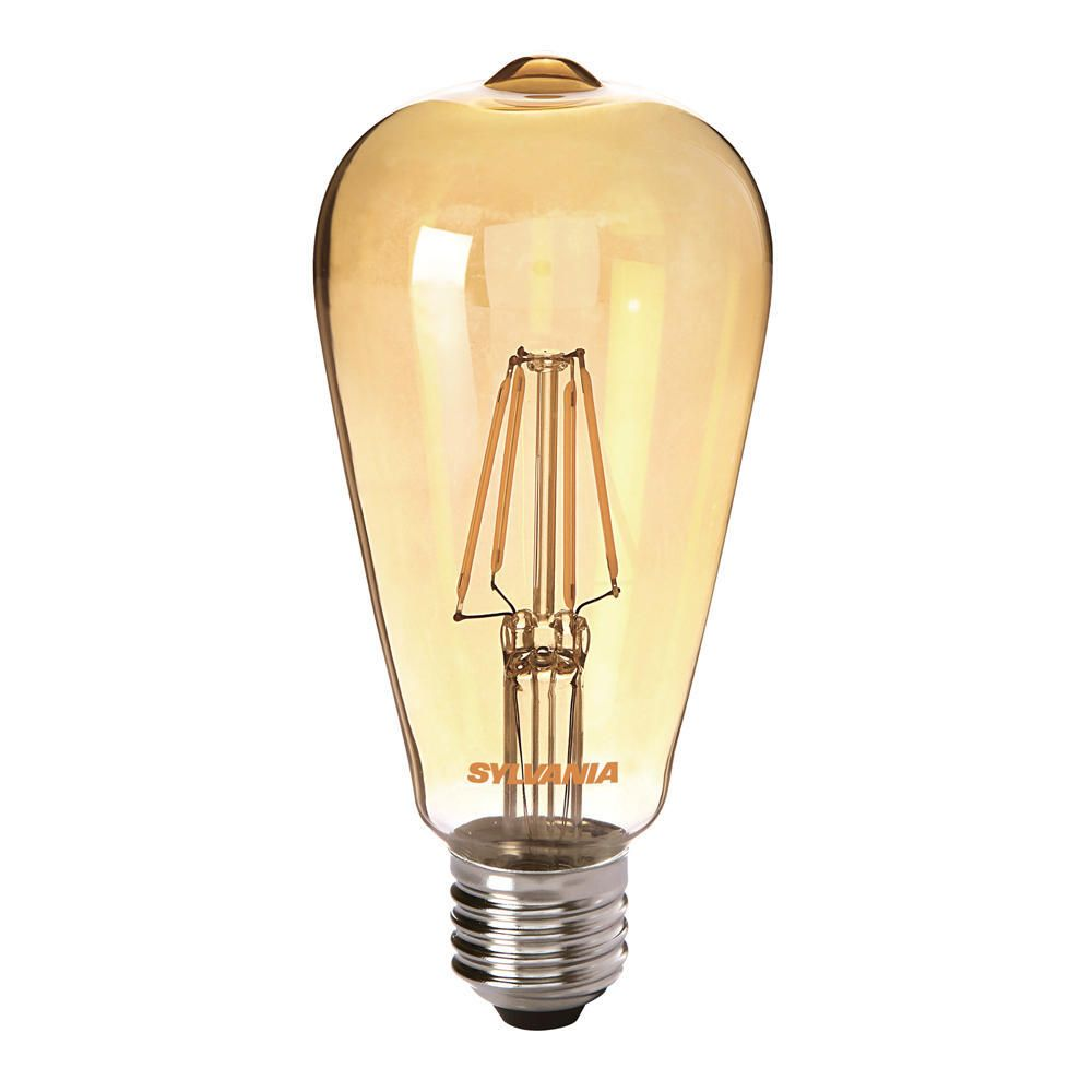 Sylvania ToLEDo Retro Edison E27 ST64 4W Gold | Replaces 35W