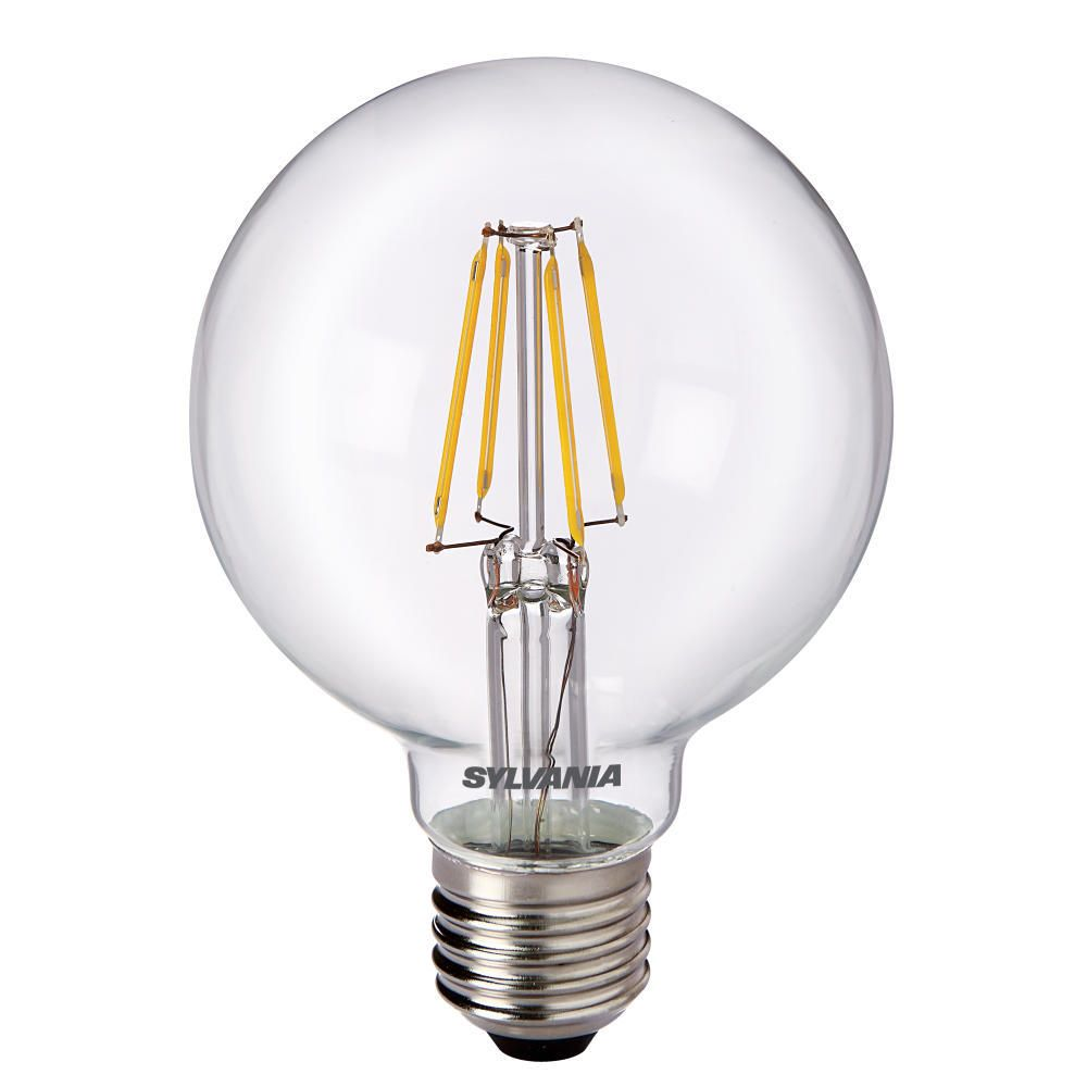 Sylvania ToLEDo Retro Globe E27 G80 4W Clear | Replaces 40W