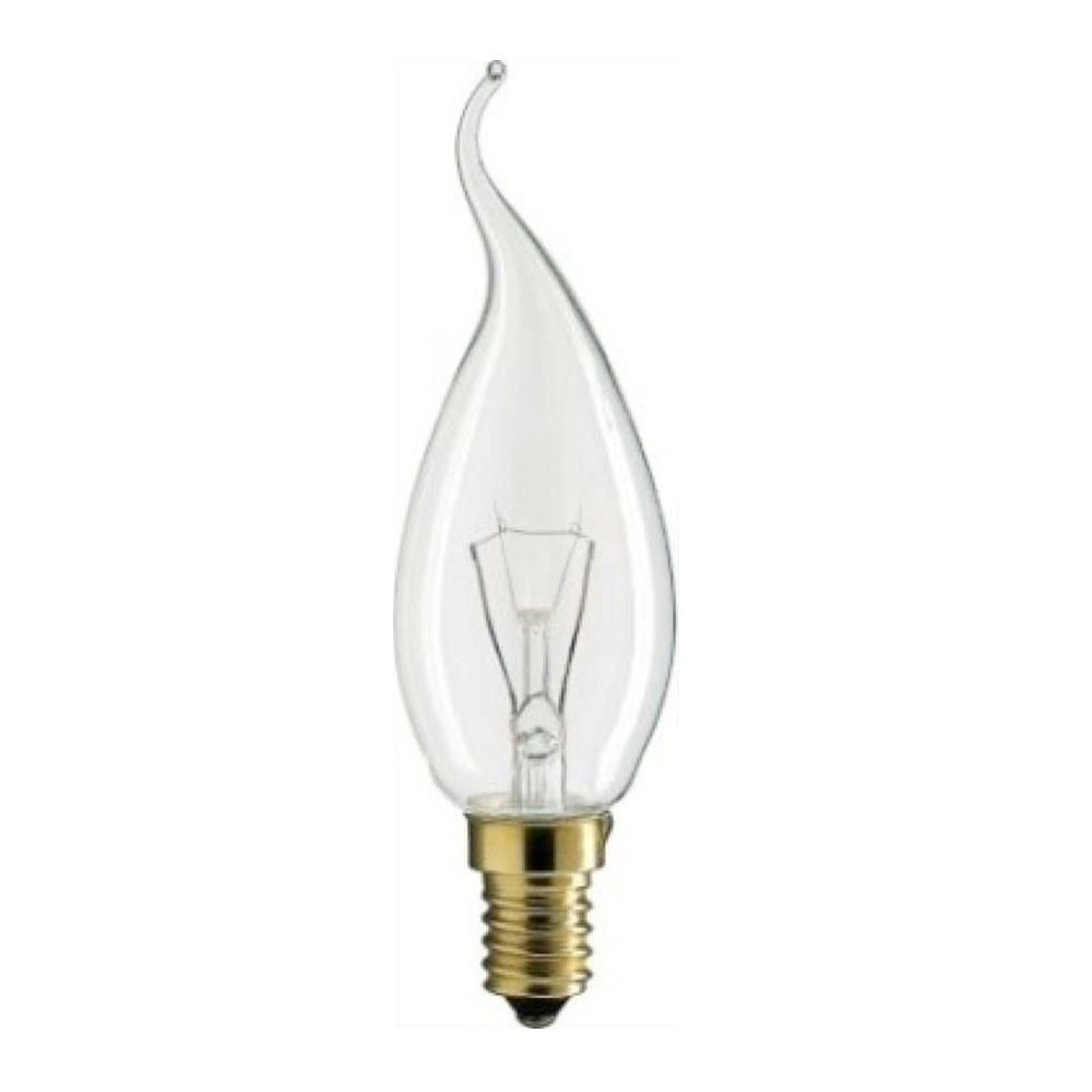 Philips Incandescent Bent-Tip Candle 40W E14 230V BXS35