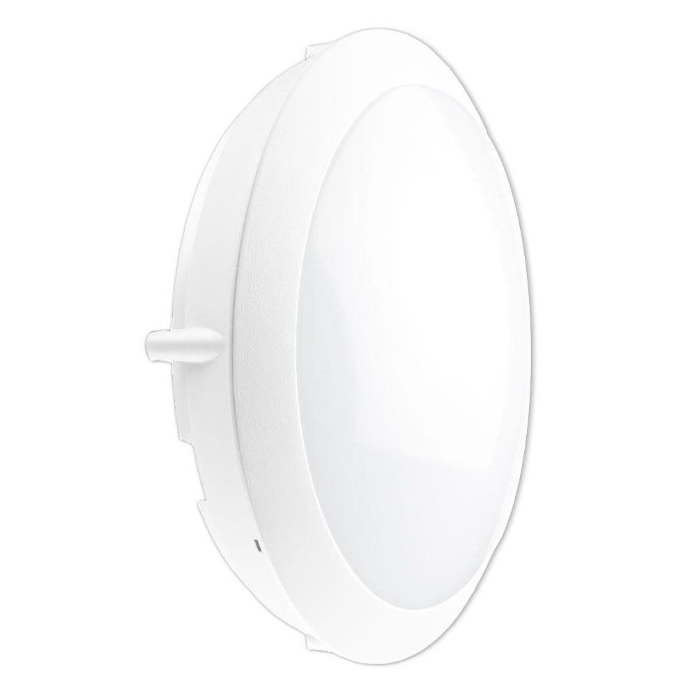 Noxion LED Bulkhead Seinä/Katto Pro 3000K 13W Valkoinen   Korvaa 2x18W