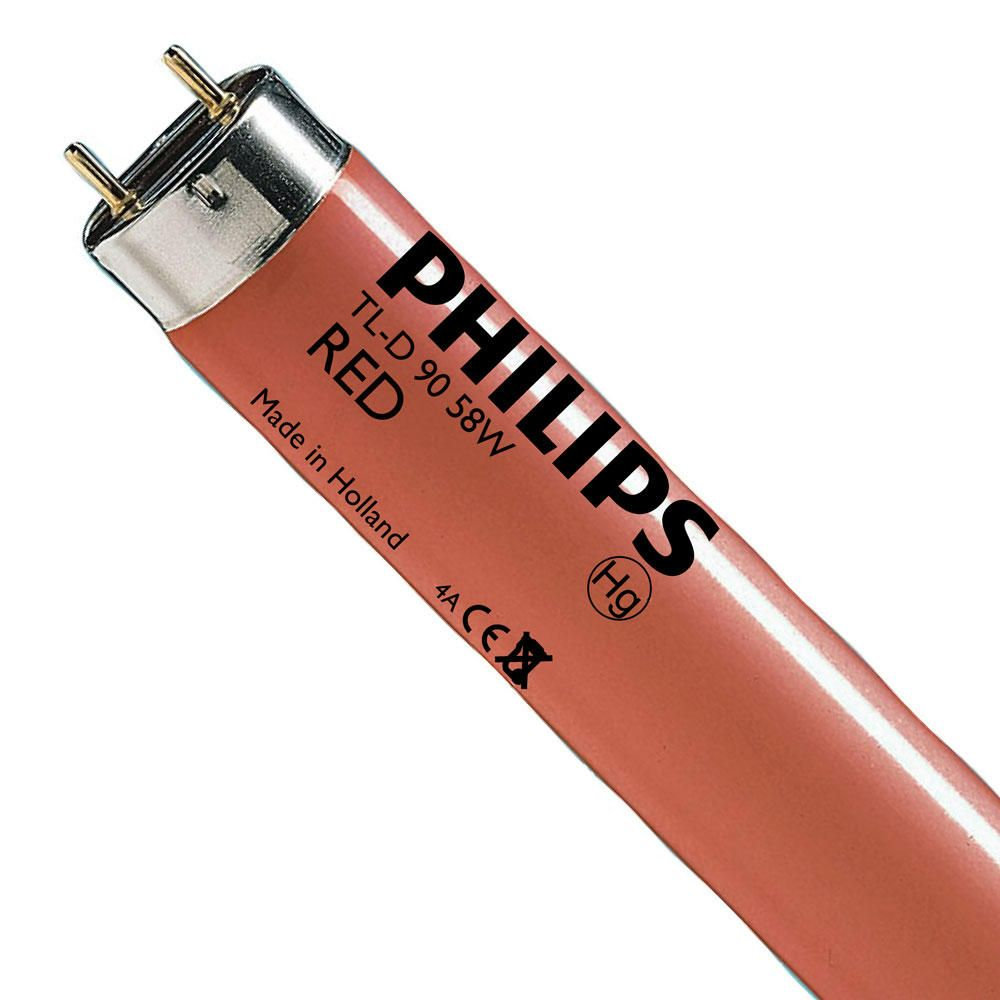 Philips TL-D Colored 58W (MASTER) | 150cm - Rot