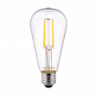Noxion Lucent Classic LED Fadenlampe ST64 E27 4W 827 Klar | Ersatz für 40W