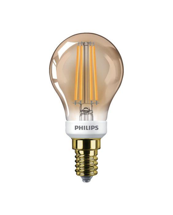 Philips Classic LEDluster E14 P45 5W 822 Goud | Dimbaar - Vervangt 32W